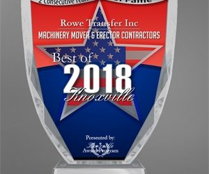 Rowe Transfer, Inc. Receives 2018 Best of Knoxville Award