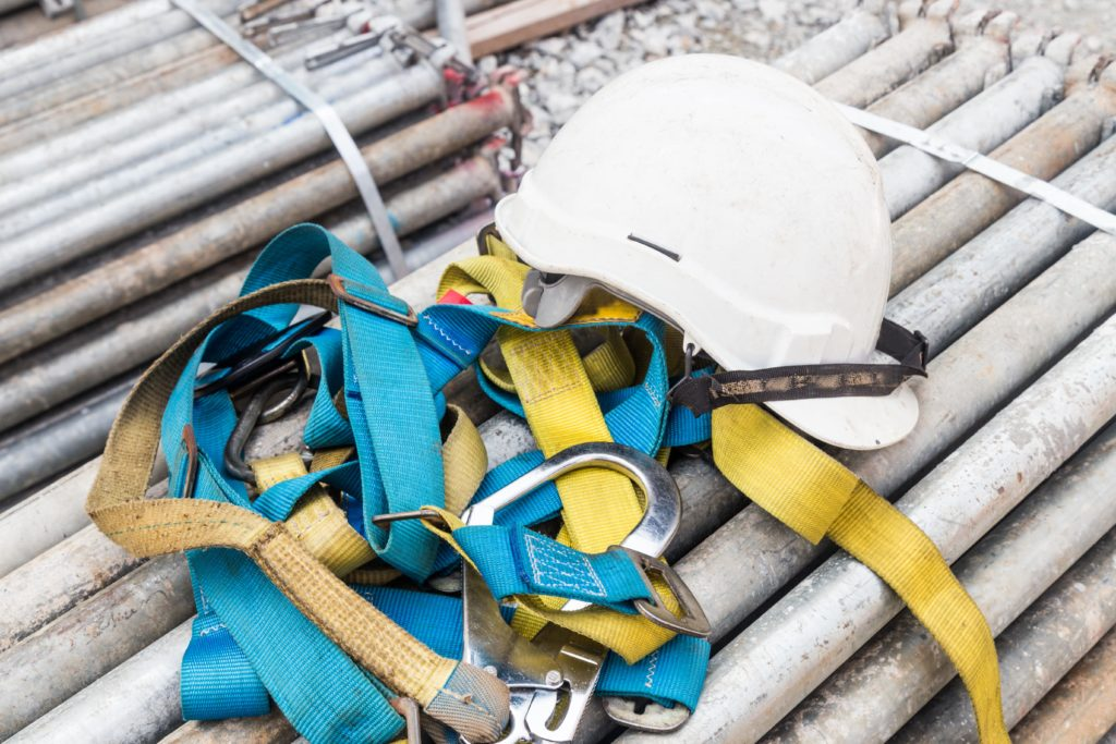 safety equipment that would be used by a rigging professional during a rigging job.