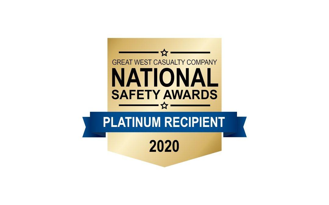 Rowe Transfer Awarded Platinum Award in 2020 National Safety Awards Program